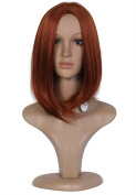 Beauty Smooth Hair Glamorous Natural Long Synthetic Hair Wig for Women -Cosplay or Mannequins Carnival or Theme Parties 0507