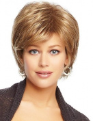 Amazing Short Layered Hand Tied Top Human Virgin Remy Female Capless Hair Wig