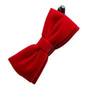 Rosehair 002-04 Velvet Bowknot Hair Barrettes