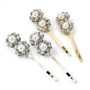 Amber Bling Online Pc Pearl & Crystal Hair Grip Set