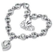 Meidus Classic Women Metal Beads Rhinestone Bracelet Bangles Exquisite Heart Bracelets