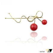 CellElection Cute Cherry Hairclips,Newly Design Hairpins for Three Different Colour