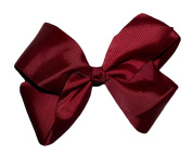WD2U Extra Large GrosGrain Knot Hair Bow Alligator Clip Burgundy 1092A