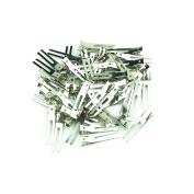 1 Bag(100 pcs)-1.75 inch( 45mm) Double Prong Metal Alligator Hair clips Beak Hair Clamp Clip Bows Prong Barrette Pin Hairbow Accessory