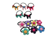 Ginasy Cute Girls Cloth Little Horse Hair Tie Bands Ropes Ponytail Holder