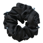 Rosehair 002-02 Satin Crystal Scrunchy for Ponytail