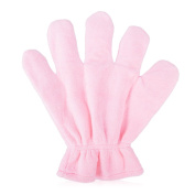FANTCEN Microfiber Dry Hair Glove Quick Dry Hair Towel Super Water Absorption Professional Salon Wrap Extra Soft 1pc in Pink