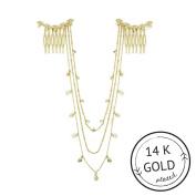 Leaf Hair Chain Gold