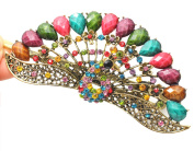 Fashion Vintage Jewellery Crystal Peacock Hair Clips Hairpins Beauty Tools