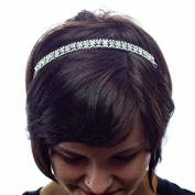 Mint Condition Metal Rhinestone Headband, Silver