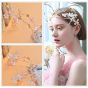 Upscale Jewellery Gold Leaf Shape Wedding Newly Bridal Headdress Hair Marriage Accessories
