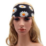 Academyus Women Boho Elastic Floral Wide Headband Yoga Running Headwrap Hair Bands