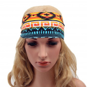 Polytree Women's Sport Yoga Elastic Printed Headbands Boho Hair Bands