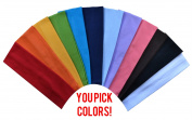 1 Dozen 6.4cm Cotton Soft and Stretchy Headbands YOU PICK SET colours From Funny Girl Designs