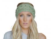 Ewandastore Women Girls Twist Wave Wool Knitting Knitted Hat Winter Warm Crochet Flora Headband Head Wrap Hair Band