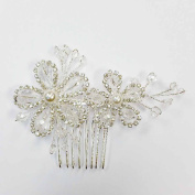 Crystal & Pearl Beads Hair Comb Headband Hair Piece