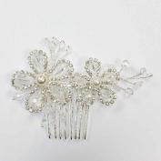 Crystal & Pearl Beads Hair Comb Headband Hair Piece