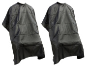 TMS® LOT 2~Salon Barber Hairdressing Gown Dye Styling Cutting Shampoo Hair Cape Cloth