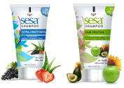 SESA HAIR(PROTEIN)SHAMPOO WITH SESA EXTRA CONDITIONING SHAMPOO-HEALTHY BEAUTIFUL VOULMIZED HAIR-80 ML-2.70 FL.OZ