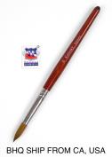 Kolinsky Acrylic Nail Brush Round Wood Handle #16