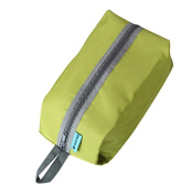 Durable Lightweight Hanging Toiletry Bag Dopp Kit, Portable Travel Organiser with Zipper for Men & Women, Green