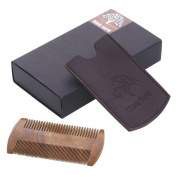 Woods World Green Sandalwood Hairand Beard Comb No Static electricity Detangling Natural Aroma Handmade