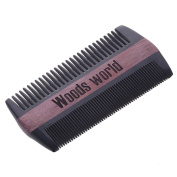 Green Sandalwood /Rosewood Hairand Beard Comb | No Static Detangling Natural Aroma Handmade Buffalo Horn Comb