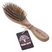 Woods World Natural Green Sandalwood Hair Brush