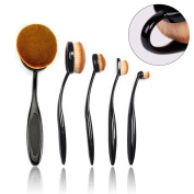 BeautyKate Pro 5Pcs Oval Makeup Brush Set Cosmetic Foundation Contour Concealer Face Eye Brushes
