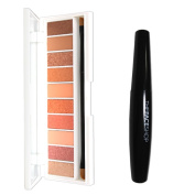 Pack of W.Lab Pocket Eye Shadow Blooming Palette 10 Colours and The Face Shop Freshian Big Mascara #02 Volume