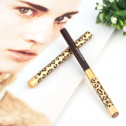 Familybuy Double-end Waterproof Eyebrow Pencil Automatic Pro Makeup Eyebrows Set With Eye Brow Comb Brush- Brown