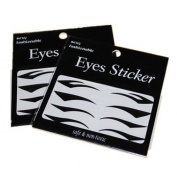 JXULE 4 Styles Temporary Instant Tattoo Transfer Eyeshadow Eyeliner Eyes Sticker