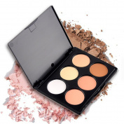 Professional 6 Colours Blush Trimming Set Makeup Contour Blusher Face Powder Foundation Palette with Brush