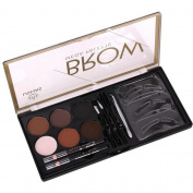 Q-COOL Eyes Neutral Makeup Liner Shadow Eyebrow Gel Powder Palette Brush Tool Kits #2