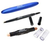 3PCS Cosmetic Set Dual-Head Contour Stick+ Durable Eyebrow Pencil +Mascara