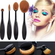 Makeup Brush,Baomabao 4Pcs/Set Eyebrow Makeup Foundation Brush Powder Brush Kits