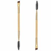Makeup Brush,Baomabao 1PCS Makeup Double Eyebrow Brush + Eyebrow Comb