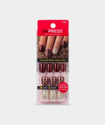 "NEW 2016** KISS imPRESS ""NIGHT FEVER"" Press-On Gel Manicure Nails-BIPD051-57943"