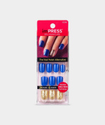 "NEW 2016** KISS imPRESS ""FLASH MOB"" Press-On Gel Manicure Nails-BIP080-62306"