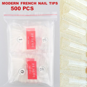 Yaoshun 500pcs Clear Sharp Ending Stiletto glitter Colour False Nail Tips Acrylic Nail Transparent Colour-Style 12