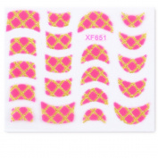 Yao Shun Nail Stickers,Water Transfer Decals Nail Hydroplaning Nail Art Flowers -kit#08