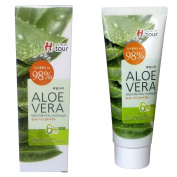 Welcos 98% Aloe Vera Moisture Real Soothing Gel 100ml 3.38oz Moisturiser