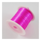 5 x 10m (50m) Magenta Elastic 1mm Fibre Wire - (Y05910) - Charming Beads
