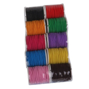 WINOMO 10pcs 1MM * 5M Elastic Nylon Jewellery Making Craft Thread Spools
