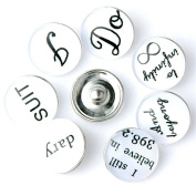 ZARABE 10PC Mix Snap Button 18MM Infinite Character Glass Rhinestone Jewellery Charms Random