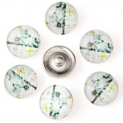 ZARABE 10PC Mix Snap Button 18MM Jesus Glass Rhinestone Jewellery Charms Random