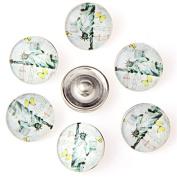 ZARABE 10PC Mix Snap Button 18MM Jesus Glass Rhinestone Jewellery Charms Random