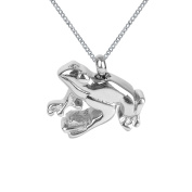 ZARABE Cremation Jewellery Glossy Frog Urn Necklace Memorial Ash Keepsake Pendant