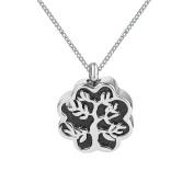 ZARABE Cremation Jewellery Black Drip Tree Urn Necklace Memorial Ash Keepsake Pendant