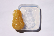 Handmade Tibetan Buddhism Jade Mercy Kwan-Yin Amulet Pendant Clear silicone mould.Size 41x21mm.